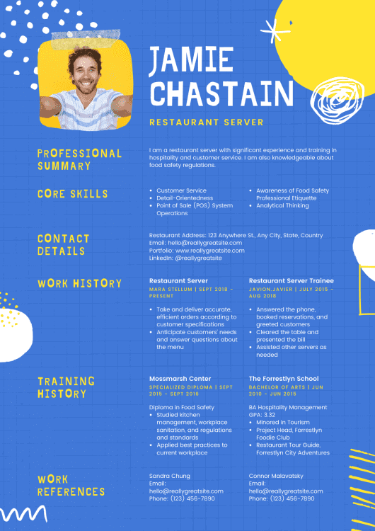 Canva Resume Example 3