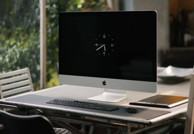 A computer monitor left on standby